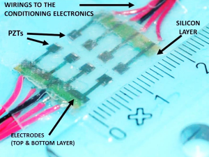 """M. Acer, M. Salerno, K. Agbeviade ve J. Paik, """"Development and characterization of silicone embedded distributed piezoelectric sensors for contact detection"""""""